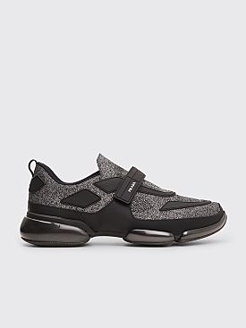 Prada Cloudbust Velcro Sneakers Metallic Black