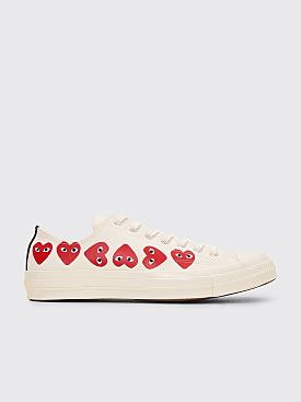 Comme des Garçons Play x Converse Chuck Taylor 70 Multi Hearts Low White