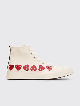 Comme des Garçons Play x Converse Chuck Taylor 70 Hi Multi Hearts White