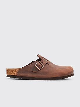 Birkenstock Boston Leather Habana Brown