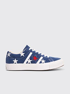 Converse Academy Ox Archive Print Low Navy