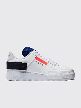 Nike Air Force 1 Type Summit White / Red Orbit