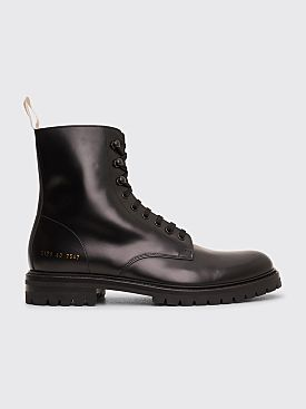 Common Projects Combat Boot With Lug Sole Black