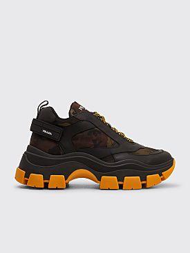 Prada Pegasus Sneakers Camo Black