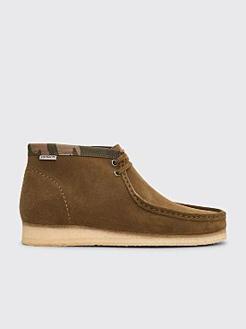 Clarks Originals x Carhartt WIP Wallabee Boots Suede Olive