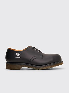 Raf Simons x Dr Martens Cut Out Steel Toe Shoes Black