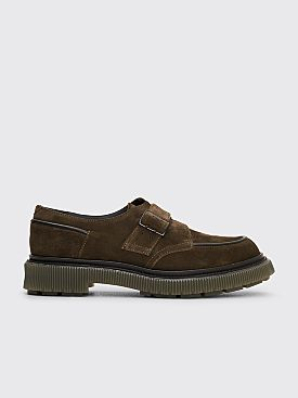 Adieu Type 136 Suede Derby Shoes Military Green
