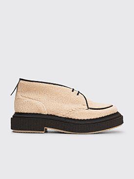 Adieu Type 131 Lamb Wool Low Boots Natural / Black