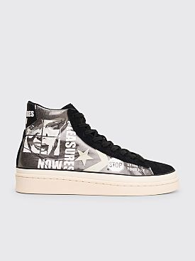 Converse x Pleasures Pro Leather Mid Black / White