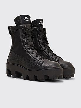 S.R. STUDIO LA. CA. Therapist Leather Lace Up Boot Black