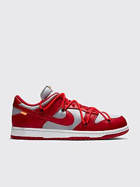 Nike x Off-White Dunk Low University Red / Wolf Grey