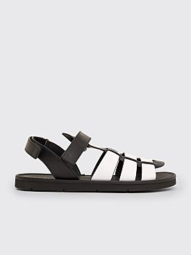 Prada Leather Sandals Black / White