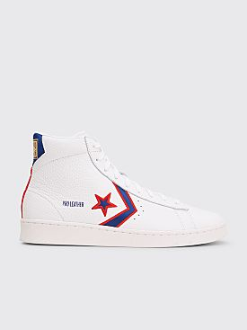 Converse Pro Leather Mid White / Rush Blue