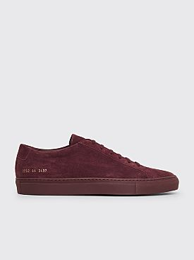 Common Projects Original Achilles Low Suede Sneakers Bordeaux