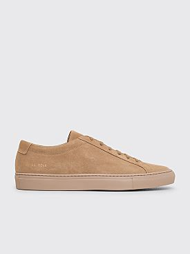 Common Projects Original Achilles Low Suede Sneakers Taupe