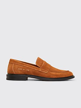 Common Projects Suede Loafers Tan