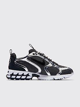 Nike x Stüssy Air Zoom Spiridon Cage 2 Pure Platinum / Black