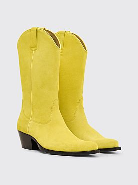 Sunflower Cowboy Suede Boots Yellow