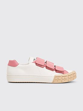 Prada Wheel Leather Sneakers White