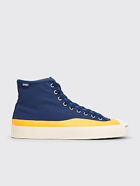 Converse Cons x Pop Trading Co Jack Purcell Pro Hi Top Navy / Citrus