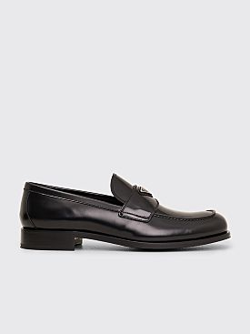 Prada Leather Loafers Black
