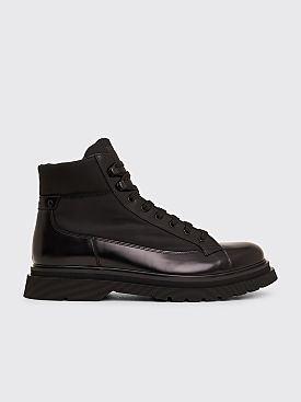 Prada Technical Leather Boots Black