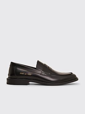 Common Projects Leather Loafer Shoes Black