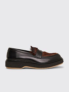 Très Bien x Adieu Type 5 Leather Loafer Natural Brown / Black