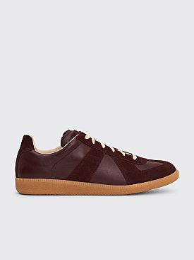 Maison Margiela Replica Low Top Sneakers Wine / Bordo