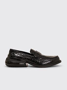 Maison Margiela Faux Croc Moccasine Air Bag Heel Black