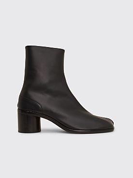Maison Margiela Calf Leather Tabi Ankle Boots Black
