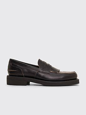 Our Legacy Leather Loafer Worn Black