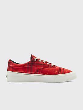 Converse Twisted Plaid Skid Grip Haute Red