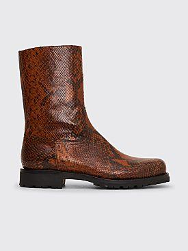 Dries Van Noten Leather Half Boots Brown