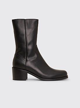 Dries Van Noten Leather Boots Black