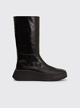 Prada Brushed Leather Boots Black
