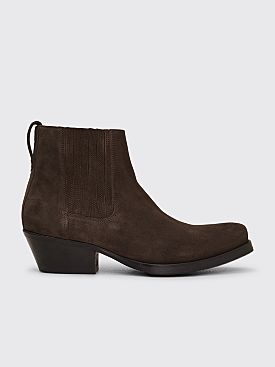 Our Legacy Cuban Suede Boot Espresso
