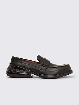 Maison Margiela Leather Moccasine Air Bag Heel Black