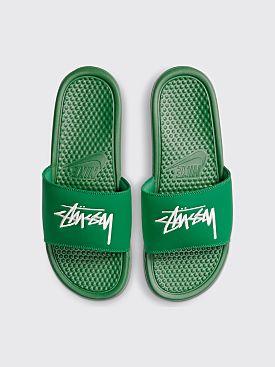 Nike x Stüssy Benassi Pine Green