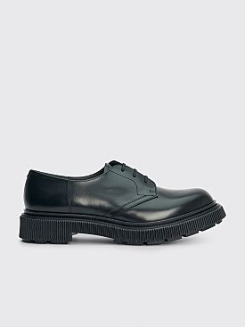 Adieu Type 132 Polido Calf Derby Shoes Black
