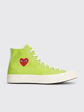 Comme des Garçons Play x Converse Colorful Chuck Taylor 70 Hi Green