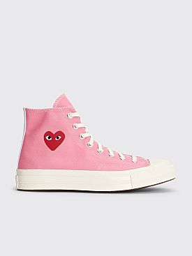 Comme des Garçons Play x Converse Colorful Chuck Taylor 70 Hi Pink