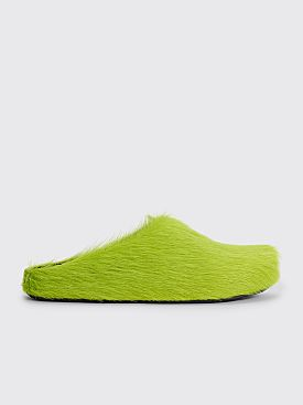 Marni Leather Sabot Shoes Light Lime