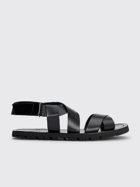 Dries Van Noten Leather Sandals Black