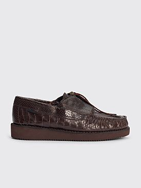 Engineered Garments x Sebago Coverdeck Moccasin Dark Brown