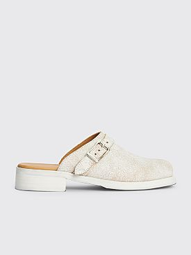 Our Legacy Camion Mule Coated Suede White