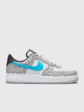Nike Air Force 1 '07 Premium Pure Platinum / Lt Blue Fury