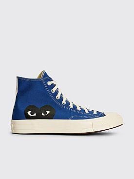 Comme des Garçons Play x Converse Chuck 70 Hi Blue