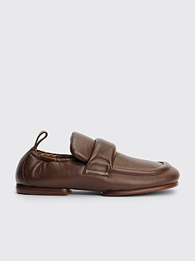 Dries Van Noten Padded Leather Loafers Brown