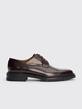 Common Projects Derby Shoes Oxblood